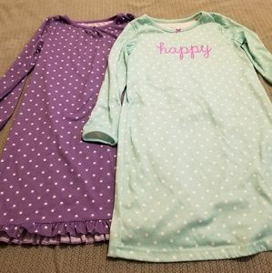 Set of 2 Carter's Nightgowns